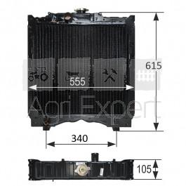 5096595 5099122 radiateur de refroidissement moteur new holland td55d td60d td65d td70d. Black Bedroom Furniture Sets. Home Design Ideas