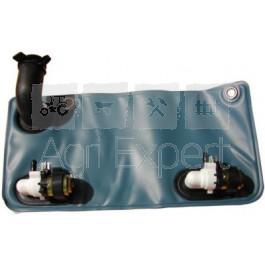 pompe de lave glace double 12v avec poche 2l moteur d 39 essuie glace accessoire cabine tracteur. Black Bedroom Furniture Sets. Home Design Ideas