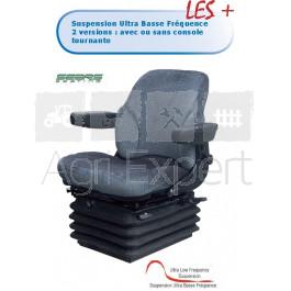 Siège suspension pneumatique AS3045 12V matière Tissu pour tracteur Renault, John-Deere...