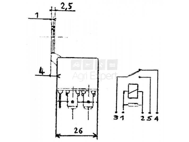 relais 12 v 25 a 5 broches. Black Bedroom Furniture Sets. Home Design Ideas