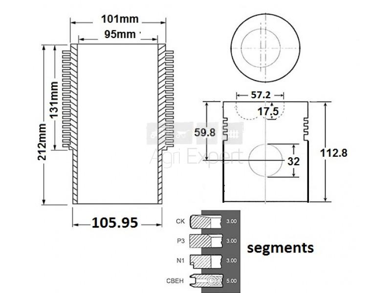 kit de r vision mwm d325 6 sur agri. Black Bedroom Furniture Sets. Home Design Ideas