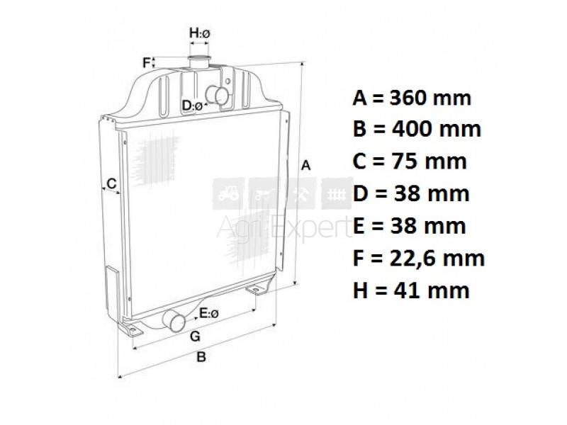 k922737 radiateur david brown 780  885  885n case s7834