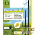 Piquets de clôture D 53mm à utilisation universelle, en matières plastique recyclés.