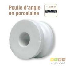 Isolateur d'angle en porcelaine pour fil de clôture électrique, sachet de 10 pièces.