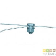 Vis de connexion en fonte d'aluminium pour fils de fer ou d'acier. Sachet de 10 pièces.