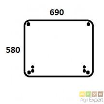 Vitre de toit tracteur Massey-Ferguson série 4200, 4300, 5400, 5600, 6100, 6200, 6400, 7400, 8100, 8200