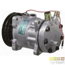 Compresseur SD7H15-8062-vert 7/8-3/4-Ø132-A.2G 12Volts avec valve climatisation New-Holland, Valtra