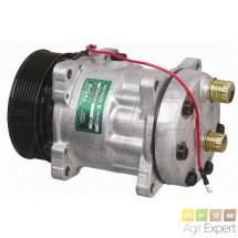 Compresseur Sanden SD7H15-8027 batteuse New-Holland CS, CX (équivalent SD7H15-8143 ) 84058795