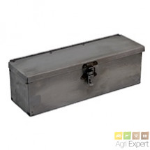 Boite à outils tôle pour matériel dimension  300X 90X 95 mm