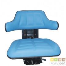Siège suspension mécanique, assise standard couleur Bleu.