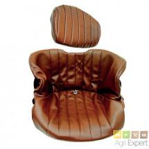 Housse de siège Grammer DS 85/H50 R, 2 pièces en matière synthétique marron