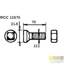 Boulon TFCC 12X70 pour contre-sep Goizin or