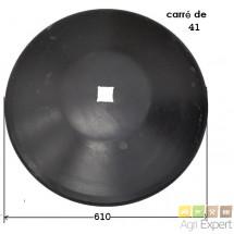 Disque tronconiques lisse 610x6 carré de 41 montage JD