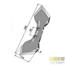 Soc 110X6x308 mm réversible renforcé pour Vibroflex