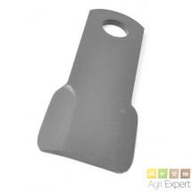 Lame plate réversible Giro-broyeur Lagarde L320x90x10 diamètre 40mm