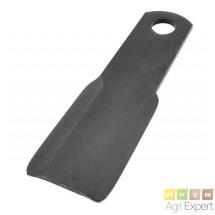 Lame plate réversible Giro-broyeur Lagarde L390x90x10 diamètre 40mm
