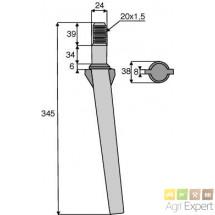 Dent cylindrique Forigo L345 D20x1.5