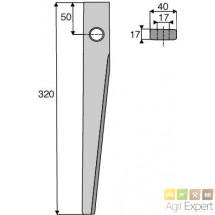Dent de herse rotative L320x17 Kuhn