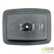 Rétroviseur 235 x 180 mm sans dégivrage à fixation centrale pour bras Ø 18 mm