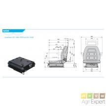 Siège suspension mécanique parallélogramme extra-plate COBO SC90 M99 en TEP