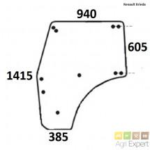 Vitre de porte tracteur Renault Dionis, Fructus, 55-12, 55-14, 70-12, 70-14, 80-12, 80-14