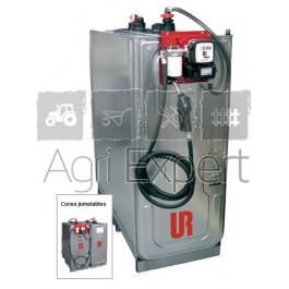 Cuve de stockage et distribution gasoil 230V 1000L en acier galvanisé UR