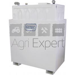 Cuve stockage huile usée 1400L avec bac de rétention ACIER