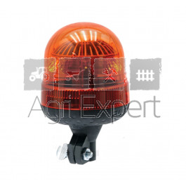 Gyrophare à LED flexible 12V / 24V fixation sur tige lumière rotative 18 LED Homologué route R65 et R10