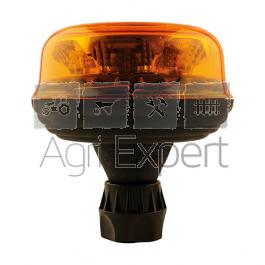 Gyrophare à LED flexible 12V / 24V lumière rotative fixation fixation tige - Homologué route R65 - R10