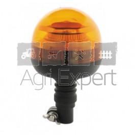 Gyrophare LED 12V, 24V embase souple montage pour tracteur AGRICOLE, Engins TP... homologué R65, R10 Gyro LED destockage pas cher