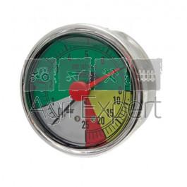 Manomètre de pulvérisateur 0-8-20-25 bars Ø 63 mm avec aiguille rouge, raccord arrière résistant aux engrais liquides Wiha ISO 16119-2