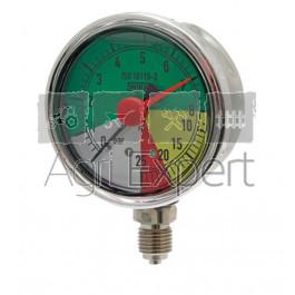 Manomètre de pulvérisateur 0-8-20-25 bars Ø 63 mm avec aiguille rouge, raccord inférieur, résistant aux engrais liquides Wiha ISO 16119-2