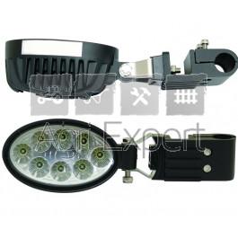 Phares de travail oval à LED 1800 lumens avec support de main courante