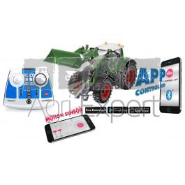Tracteur Fendt 933 Vario avec chargeur frontal, télécommande via application bluetooth SIKUCONTROL + télecommande Jouet Siku Radiocommandé