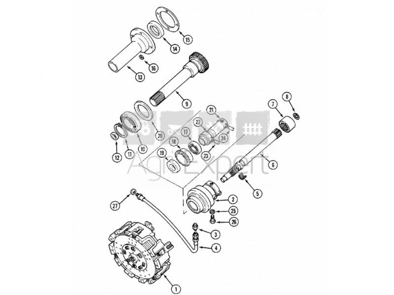 3223119r1 Joint Entre De Bv Tracteur Case Ih 553 644 654 724