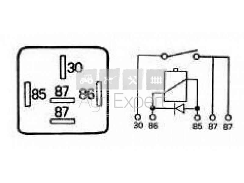relai 5 broches cobo 12v/40a-15a protection diode 18.0252.0000 diagramme relais #5