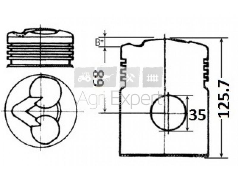 pi u00e8ces moteur deutz fl812 piston seul pour moteur f1l812