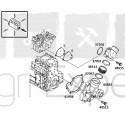 Vis de pompe à eau moteur Deutz BF4M1013, BF6M1013 tracteur Agrotron, Same Diamond, Iron, Fendt