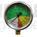 Manomètre pulvérisateur à glycérine de 0 à 25 bars