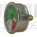 Manomètre de pulvérisateur 0 à 60 bar Ø 63 mm en laiton nicklé