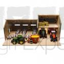 Etable en bois avec hangar pour tracteurs jouet Kids Globe 1:32