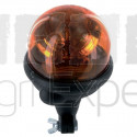 Gyrophare Saturnello 24V embase flexible fixation sur tige ampoule H1 Homologué route conformité: ECE R65, R10, Ro HS, IP65