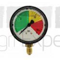 Manomètre de pulvérisateur 0-8-12-16 bars Ø 63 mm raccord inférieur M12 Wiha