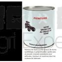 Peinture Noir mat John Deere application au pistolet à peinture