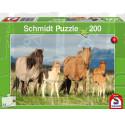 Schmidt Puzzle 200 pièces chevaux