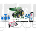 Tracteur John Deere 7310R avec chargeur frontal, télécommande via application bluetooth SIKUCONTROL + télecommande Jouet Siku Radiocommandé