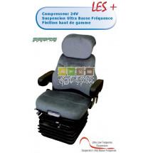 Siège suspension pneumatique D 5065 DELUXE 24V matière Velours