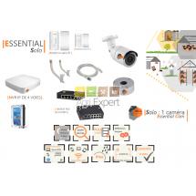 | ESSENTIAL  Solo|  Dispositif de vidéosurveillance complet comprenant 1 caméra  Essential Cam Visio Expert