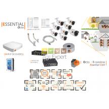 | ESSENTIAL Octo | Dispositif de vidéosurveillance complet comprenant 8 caméras  Essential Cam Visio Expert