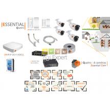 | ESSENTIAL Quatro |Dispositif de vidéosurveillance complet comprenant 4 caméras  Essential Cam Visio Expert